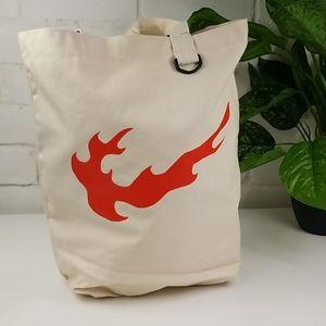 Nike Heritage Flames Canvas Tote Bag